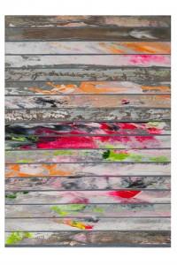 Paolo Bini. sa0000. 2013 acrilico su carta gommata su tela 35,4x25,5 cm