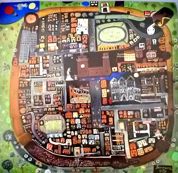 Una suggestiva mappa di Ferrara