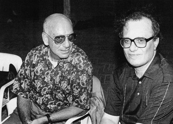 Franco Farina e Franco Patruno al Buskers Festival 1989. Per gentile concessione di Paolo Volta.