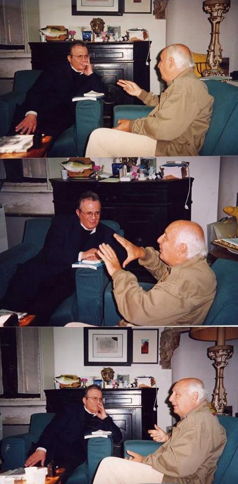 Franco Patruno con Folco Quilici. Per gentile concessione di Massimo Marchetti.