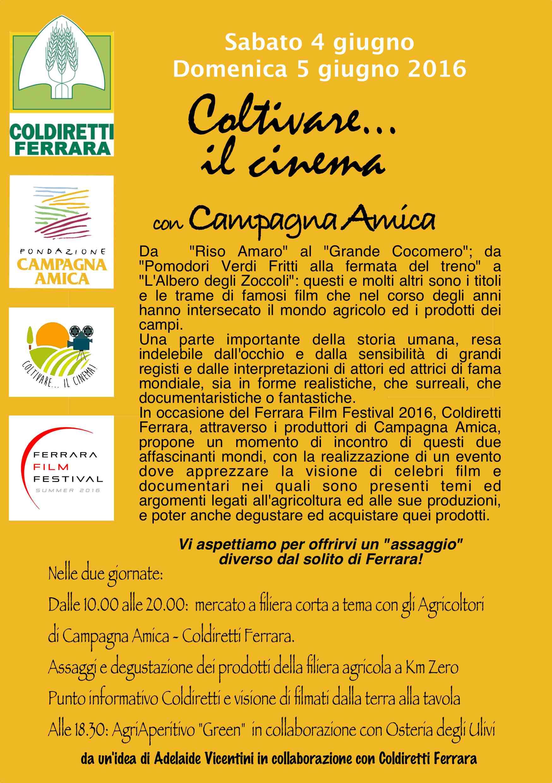 RETRO VOLANTINO COLTIVIAMO IL CINEMA 2016