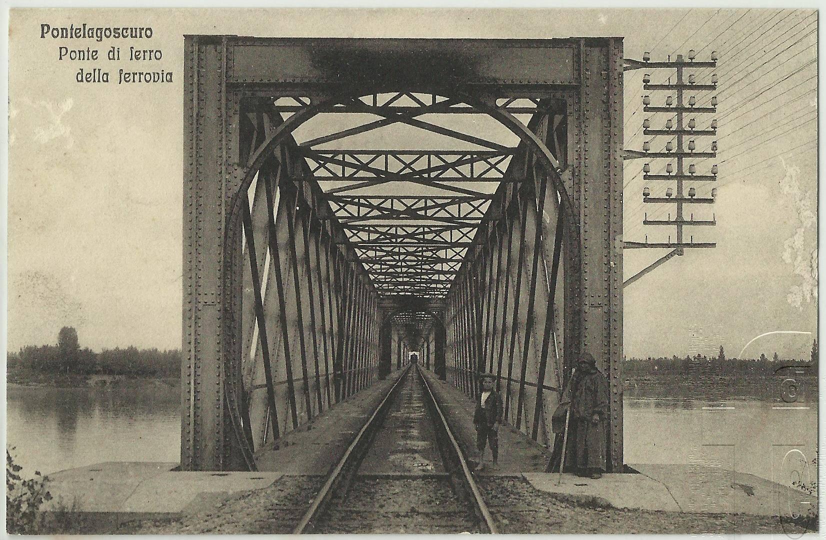 Il vecchio ponte di ferro inaugurato nel 1912